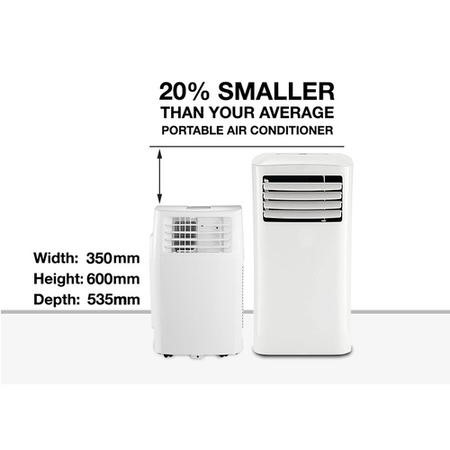 GRADE A3 - Heavy cosmetic damage - P15HP 15000 BTU 4.4kW Portable Air Conditioner with Heat Pump for Rooms up to 40 sqm