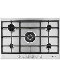 Smeg P272XGH Cucina 70cm 5 Burner Gas Hob Stainless Steel