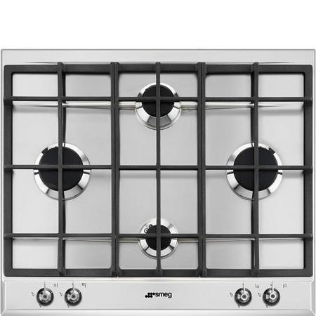 Smeg P360XGH 60cm Stainless Steel Classic 4 Burner Gas Hob
