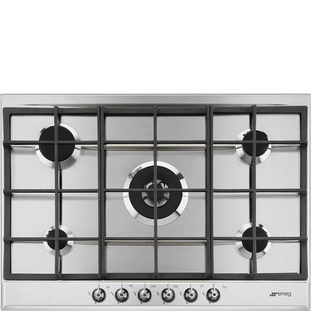 Smeg P372XGH Classic 72cm 5 Burner Gas Hob Stainless Steel