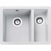 Rangemaster PAR3115CW Paragon Igneous Undermount 1.5 Bowl Composite Sink - Crystal White