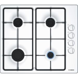 BOSCH PBP6B2B60 58cm Four Burner Gas Hob in White