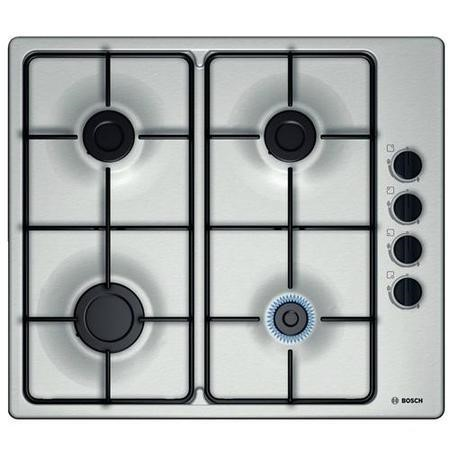 Bosch PBP6B5B80 58cm Four Burner Gas Hob in Stainless Steel