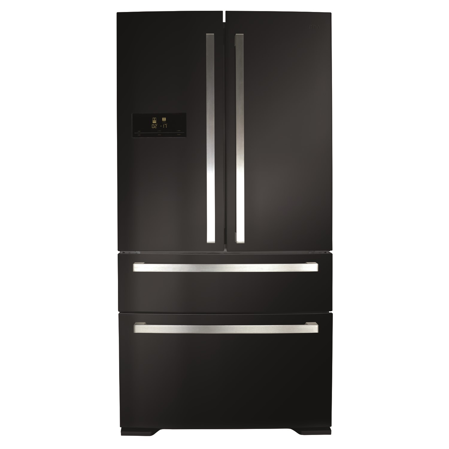 Nice American Fridge Freezer With Drawers Part - 12: CDA PC870BL American Style 2 Door Fridge With Pullout Freezer Drawers -  Black Colour - A