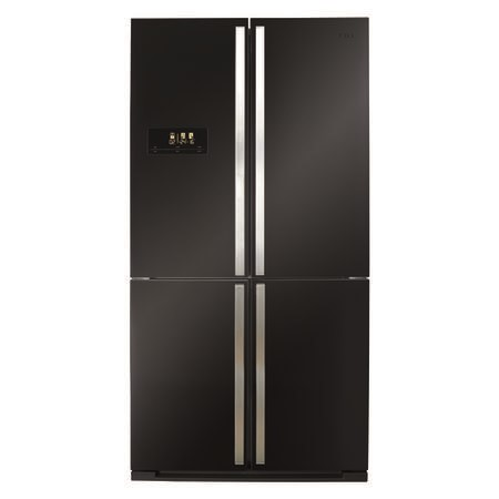 CDA PC900BL American Style 4 Door Frost Free Fridge Freezer  With Multi - Zone Cooling - Black