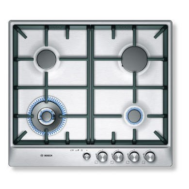 PCH615M90E Bosch PCH615M90E Exxcel 60cm Front Control Gas Hob - Brushed Steel