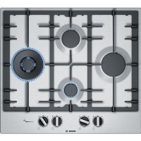 Bosch PCI6A5B90 Serie 6 60cm 4 burner Gas Hob - Stainless Steel