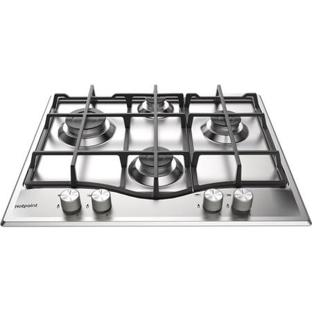 GRADE A2 - Hotpoint PCN641IXH 60cm Four Burner Gas Hob Stainless Steel