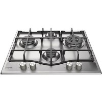 Hotpoint PCN641TIXH 60cm Four Burner Gas Hob - Stainless Steel