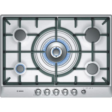 PCR715M90E Bosch PCR715M90E Exxcel 70cm Gas Hob in Brushed Steel in Stainless steel