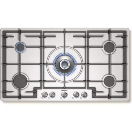 Bosch PCR915B91E Avantixx 92cm Five Burner Gas Hob in Brushed steel