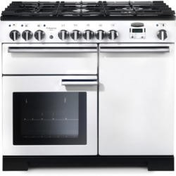 Rangemaster 98950 Professional Deluxe 100cm Dual Fuel Range Cooker - White