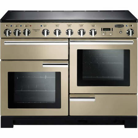 Rangemaster 101560 Professional Deluxe 110cm Electric Range Cooker With Induction Hob - Cream