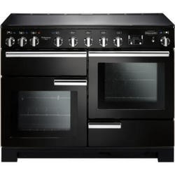 Rangemaster 101550 Professional Deluxe 110cm Electric Range Cooker With Induction Hob - Black