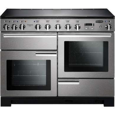 Rangemaster PDL110EISSC Professional Deluxe 110cm Electric Range Cooker with Induction Hob - Stainless Steel
