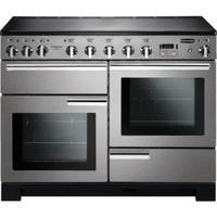 Rangemaster 101540 Professional Deluxe 110cm Electric Range Cooker With Induction Hob - Stainless Steel