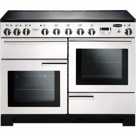 Rangemaster 101580 Professional Deluxe 110cm Electric Range Cooker With Induction Hob - White