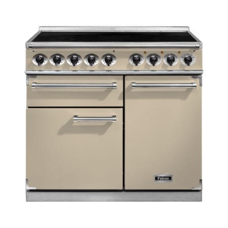 Falcon 100110 - 1000 Deluxe 100cm Electric Range Cooker With Induction Hob -Cream