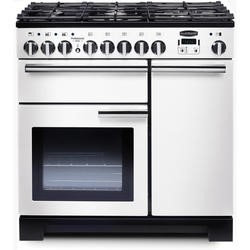 Rangemaster 98960 Professional Deluxe White 90cm Dual Fuel Range Cooker
