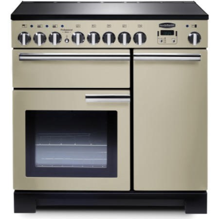 Rangemaster 97880 Professional Deluxe 90cm Electric Range Cooker With Induction Hob - Cream