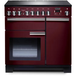 Rangemaster 97890 Professional Deluxe 90cm Electric Range Cooker With Induction Hob - Cranberry