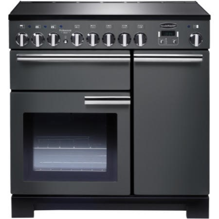 Rangemaster 10597 Professional Deluxe 90cm Electric Range Cooker With Induction Hob - Slate