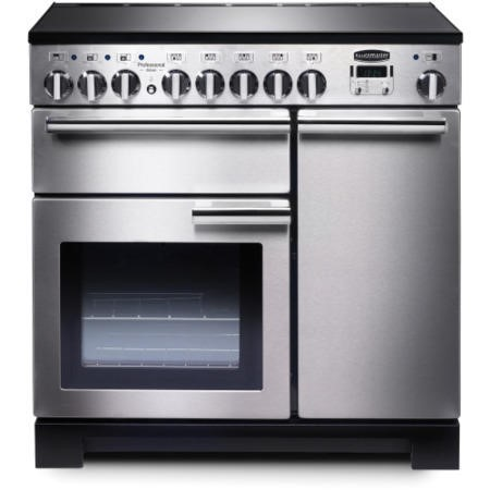 Rangemaster 97860 Professional Deluxe 90cm Electric Range Cooker With Induction Hob - Stainless Steel