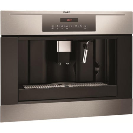 Aeg Pe4512 M Fully Automatic Built In Coffee Machine In Anti Fingerprint Stainless Steel