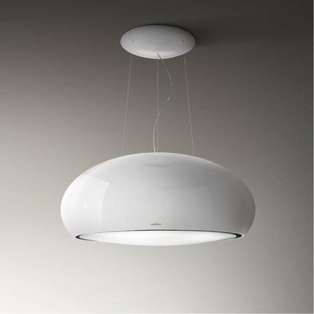 Elica PEARL-WH 80cm Ceiling Mounted Island Decorative Cooker Hood White