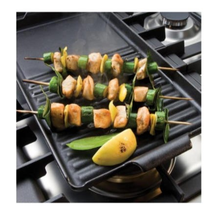 Bertazzoni PEN06 Half Ribbed & Half Flat Cast Iron Griddle - For Any Model