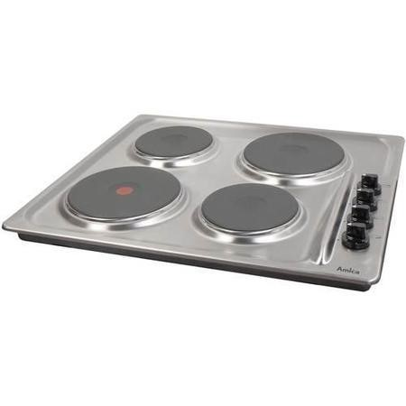 Amica PG4ES11 60cm Four Zone Sealed Plate Hob - Stainless Steel