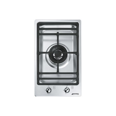 Smeg PGF31G-1 30cm Domino Single Burner Ultra Low Profile Gas Hob - Stainless Steel