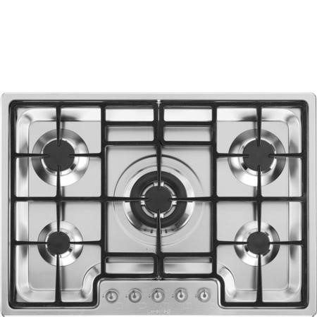 Smeg PGF75-4 Classic Stainless Steel Ultra Low Profile 72cm Gas Hob