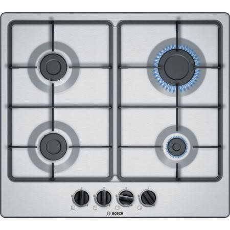 Bosch PGP6B5B60 Serie 4 - 60cm Four Burner Gas Hob - Stainless Steel