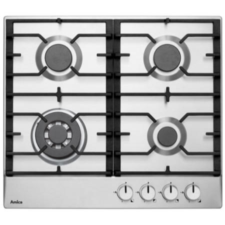 Amica PGZ6411X 59cm Four Burner Gas Hob Stainless Steel