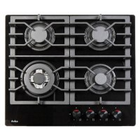 Amica PHCZ6511 60cm Four Burner Gas On Glass - Black