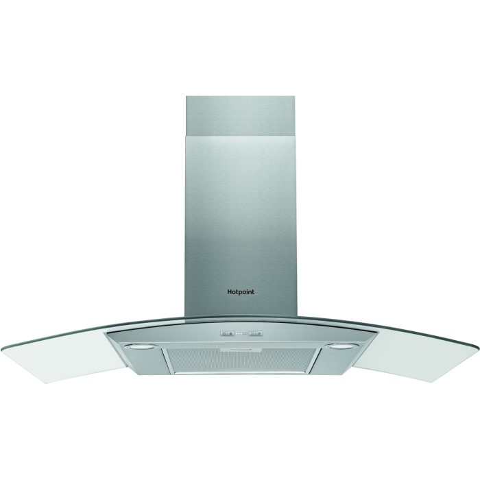 Hotpoint PHGC95FABX 90cm Chimney Cooker Hood Stainless Steel With ...