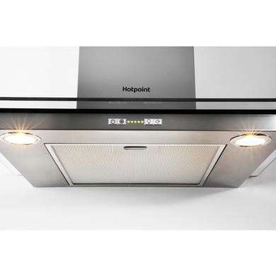 Hotpoint PHGC95FABX 90cm Chimney Cooker Hood Stainless Steel With Curved Glass Canopy