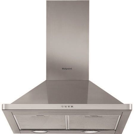 Hotpoint PHPN65FLMX 60cm Chimney Cooker Hood - Stainless Steel