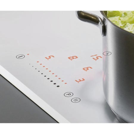 Amica PI6112WFT Bevelled Edge Slider Control 60cm Four Zone Induction Hob White