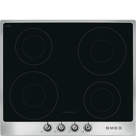 Smeg PI964X Victoria 60cm Four Zone Induction Hob Stainless Steel Frame