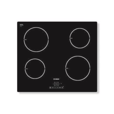 77259018/2/PIA611B68B GRADE A2 - Light cosmetic damage - Bosch PIA611B68B Touch Control Four Zone Induction Hob With Power Management - Black