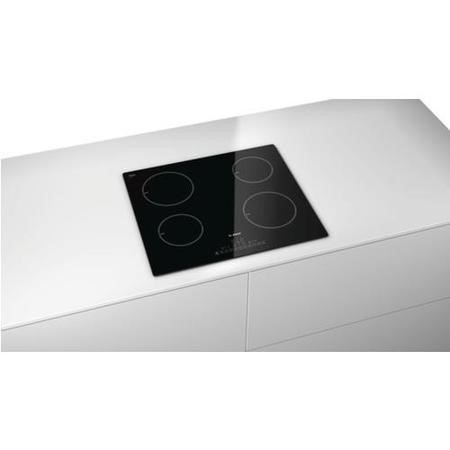 Bosch PIA611F18E 59cm DirectSelect Four Zone Induction Hob - Black