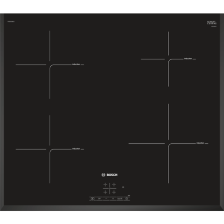 Bosch PIE651BB1E Serie 4 59cm Four Zone Induction Hob - Black
