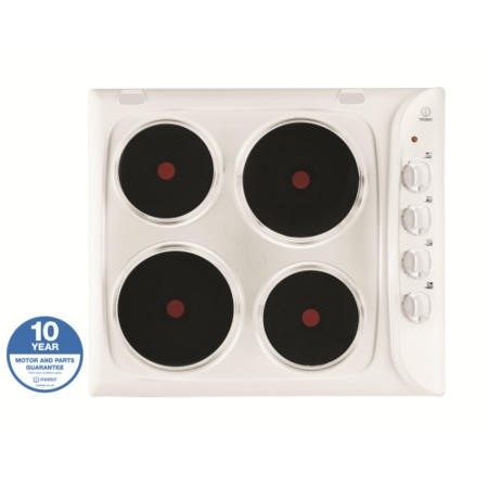 Indesit PIM604WH 60cm Four Zone Sealed Plate Hob White