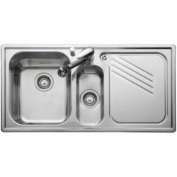 Leisure Sinks PL9852L ProLine Stainless Steel 985x508 1.5 Bowl Left Hand Drainer And KA28SS