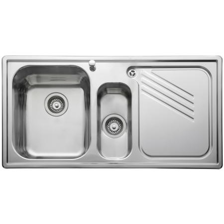 Leisure Sinks PL9852R ProLine Stainless Steel 985x508 1.5 Bowl Right Hand Drainer And KA28SS
