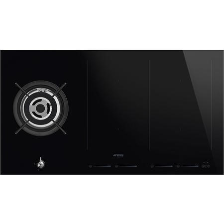 smeg pm3912wld 90cm classic mixed fuel hob 1 gas wok. Black Bedroom Furniture Sets. Home Design Ideas