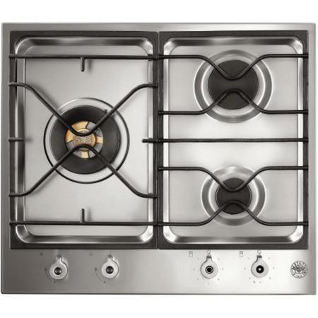 Bertazzoni PM60-3-0-X Design Series 60cm 3 Burner Gas Hob-Stainless Steel