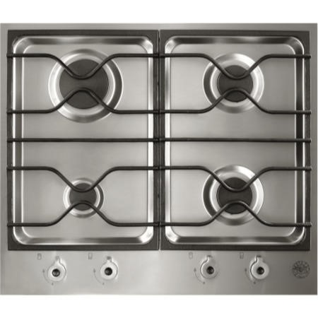 Bertazzoni PM60-4-0-X Design Series 60cm 4 Burner Gas Hob-Stainless Steel